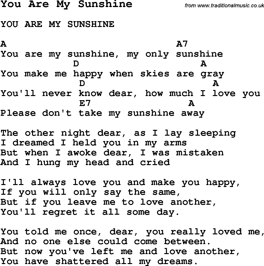 You are my sunshine   Ukelele songs, Sunshine songs, Ukulele music