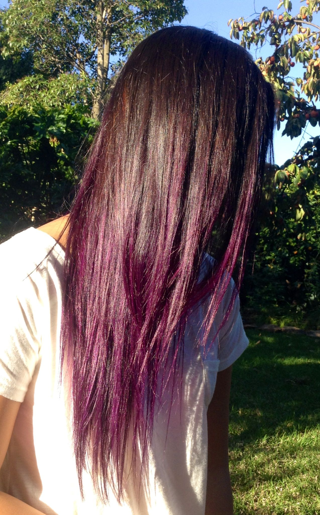 Purple Ombre Hair Manic Panic Purple Haze With Images Purple Ombre Hair Hair Styles Hair Inspiration