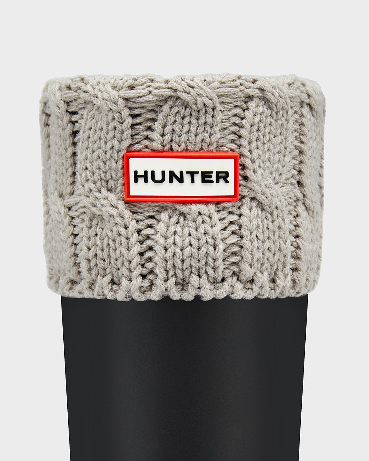 Sweetheart Hunter 6 Stitch Cable Socks Natural White