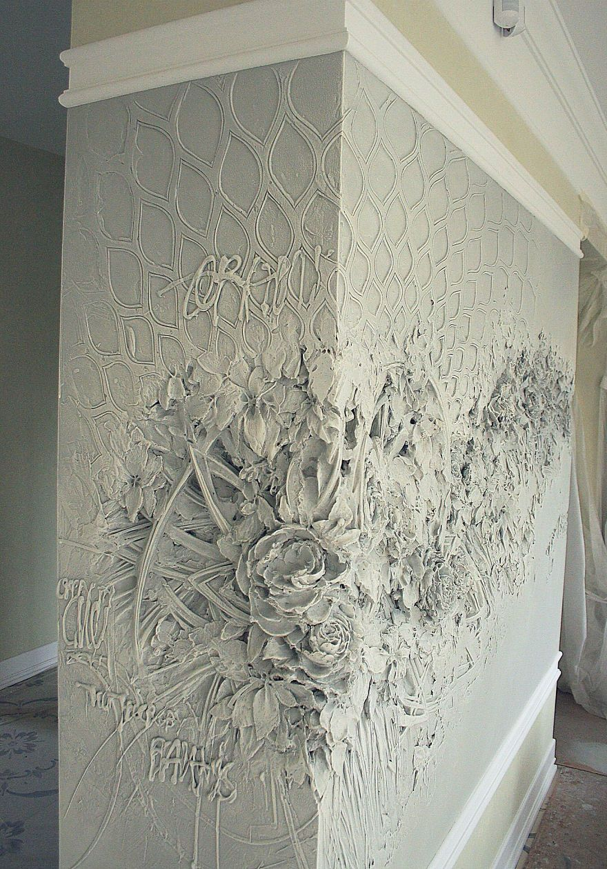 Russian Artist Uses Ancient Technique To Turn Walls Into Art And The Result Is Gorgeous Plaster Wall Art Relief Sculpture Textured Walls