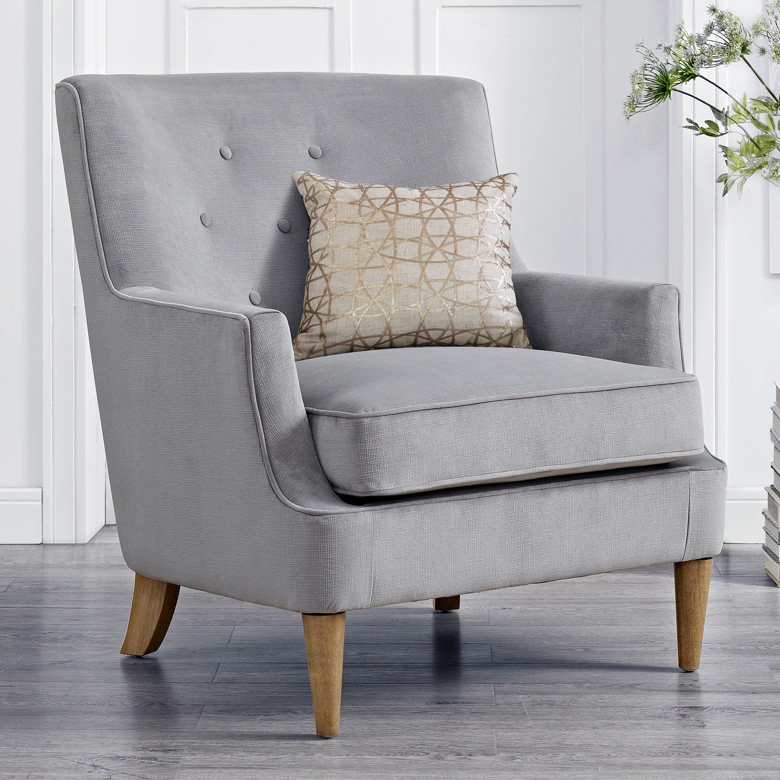 Best Mainstays Mid Century Tufted Accent Chair Accent Chairs 400 x 300