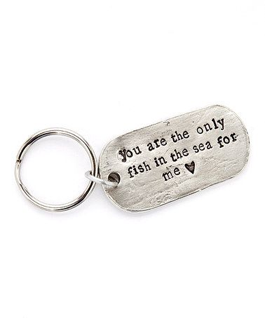 Look what I found on #zulily! Silver Dog Tag Personalized Key Chain #zulilyfinds