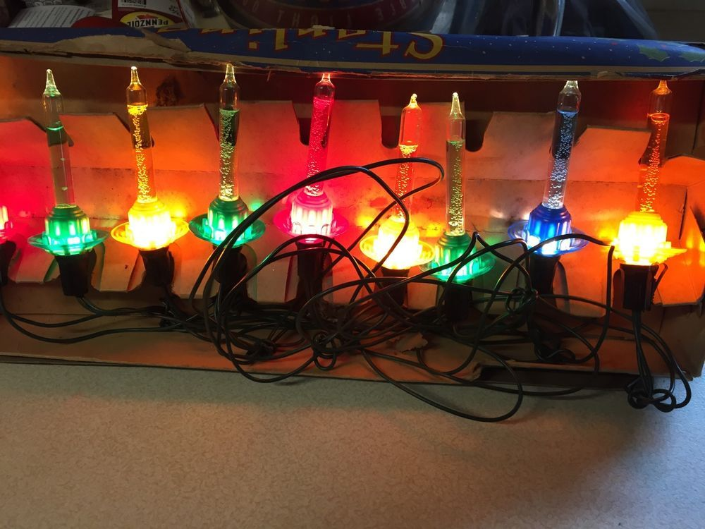 10 Bubble Lights Paramount Sterling Vintage Christmas Lights C6 Art Deco Working Vintage Christmas Lights Christmas Lights Vintage Christmas