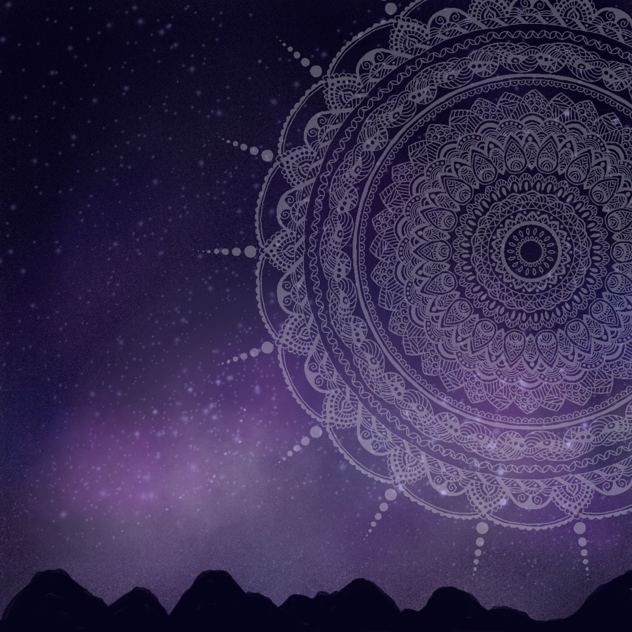 Mandala With Galaxy Background Drawn On Amaziograph App Galaxy Background Background Drawing Digital Drawing