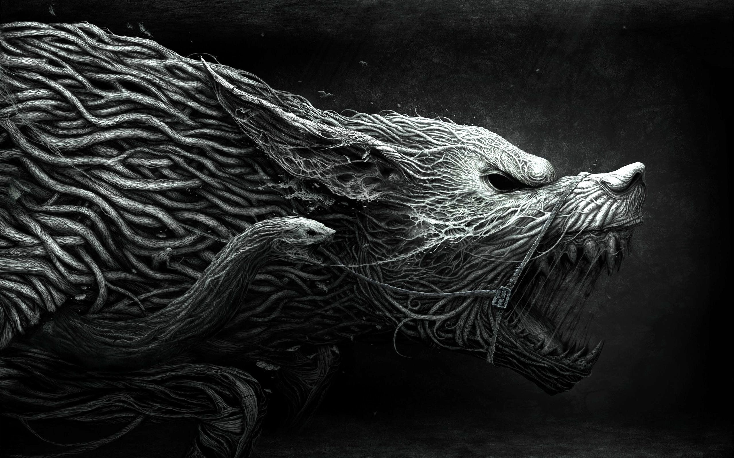 Creature fantasy wolf with snake wallpaper digital pinterest creature fantasy wolf with snake wallpaper voltagebd Image collections