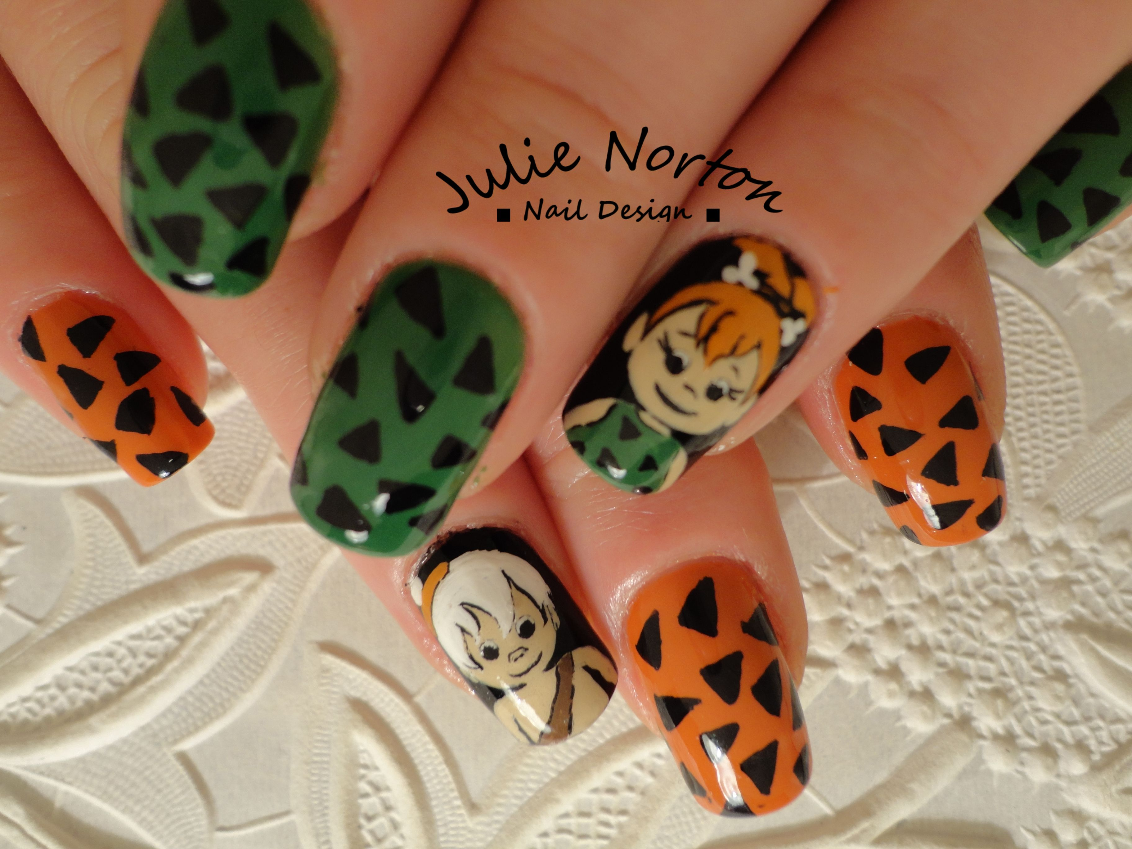 Flintstones - Pebbles And Bam Bam Nails | Nails...Patterns & Designs ...
