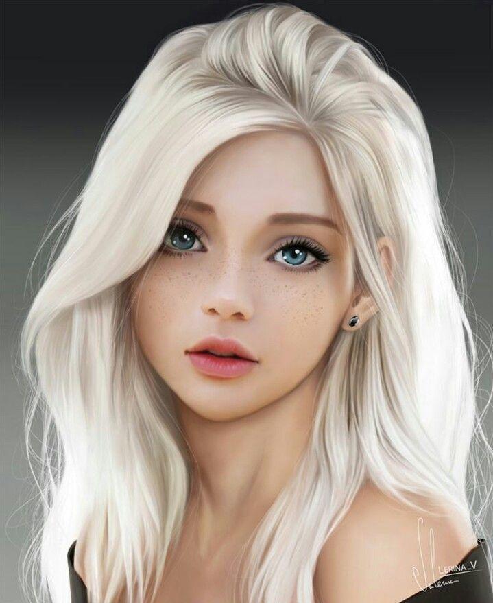 Repin: Weibliche Gesichter, digitale Gemälde, digitale Kunst, hübsche Kunst, Zeichenmaterial,…
