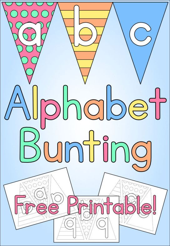 graphic regarding Free Printable Cut Out Letters for Posters known as Alphabet Bunting Children Craft - Free of charge Printable Amelies