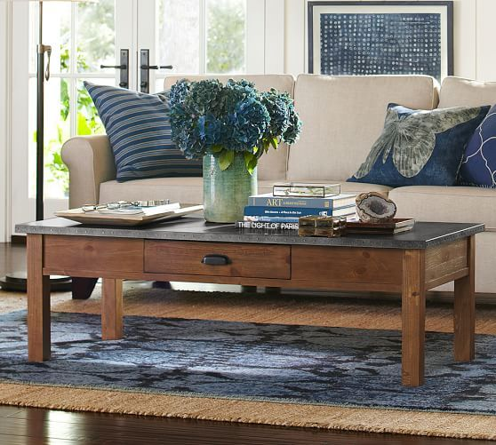 Channing Coffee Table Pinterest Coffee Table Pottery Barn - Pottery barn metal coffee table