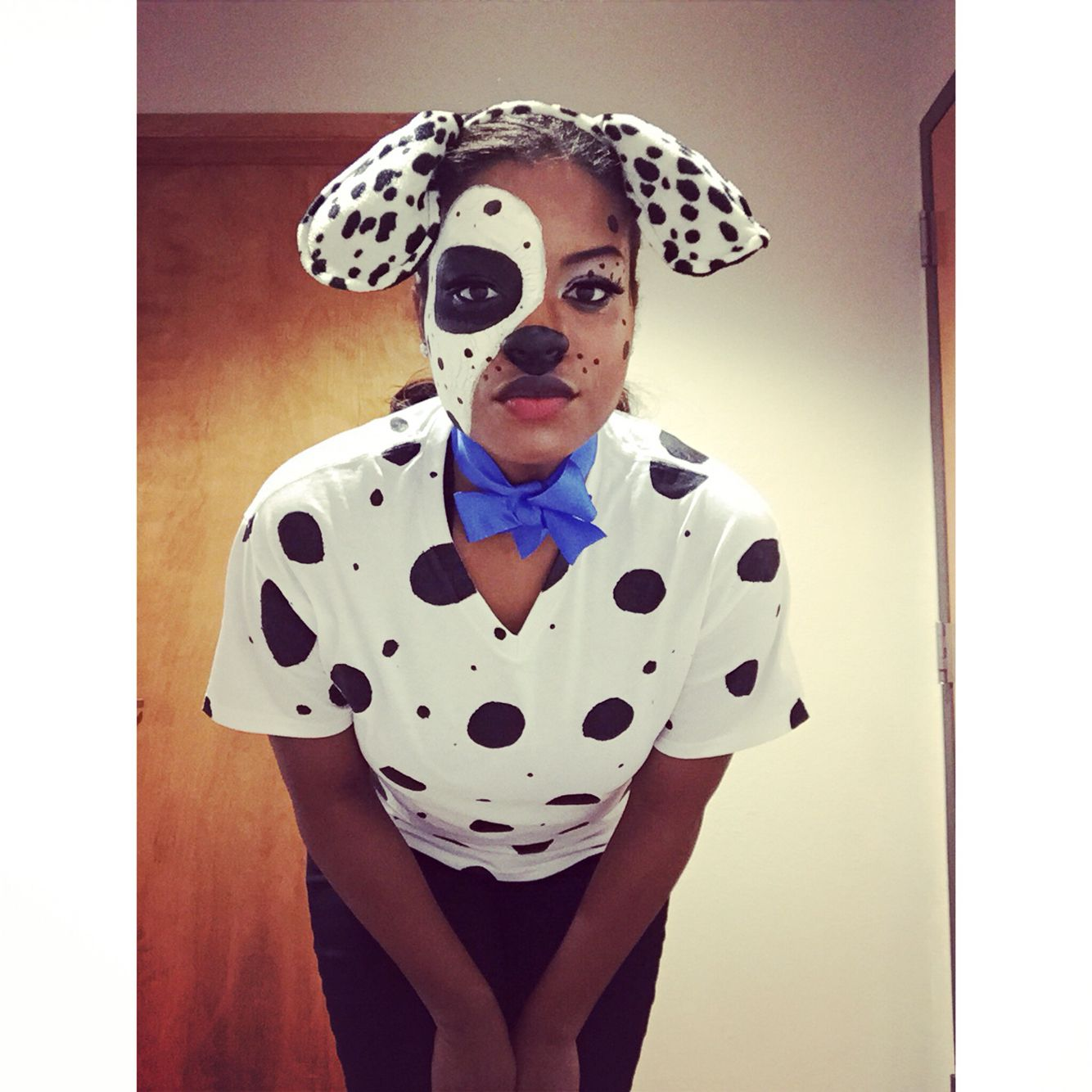 DIY 101 Dalmation Costume & Makeup Halloween