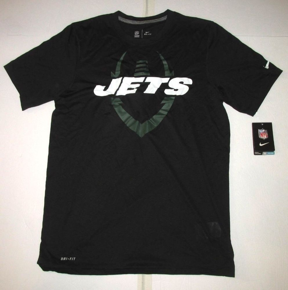 a129ff660 Nike New York Jets Football Icon Dri-FIT Shirt Mens M Black  Nike