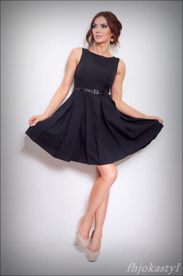 0d052f8a7b JOKASTYL Czarna sukienka rozkloszowana XL 42 Cena  119