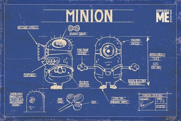 Despicable Me posters - Despicable Me Minion Blueprint poster ...