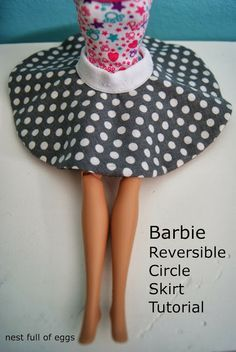 Barbie Reversible Circle Skirt Tutorial