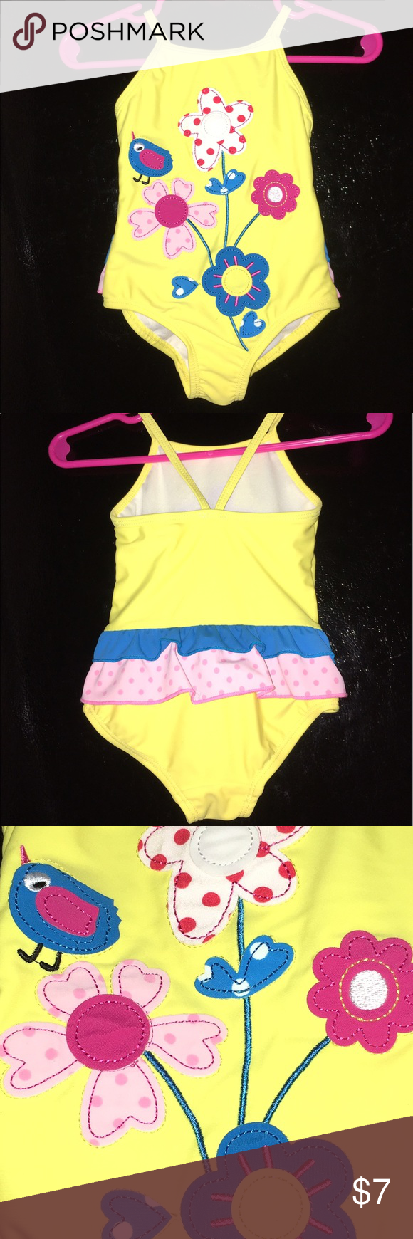 Infant Baby Bathing Suit Fun Yellow Bathing Suit For 6 To 9 Month Old Tag Says 12 Months But It Runs Small Baby Bathing Suit Yellow Bathing Suit Bathing Suits