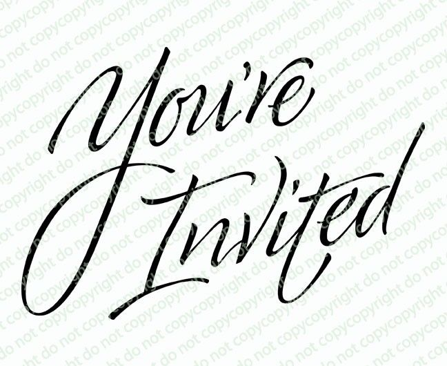 You Re Invited Word Art Celebration Templates First Free Will