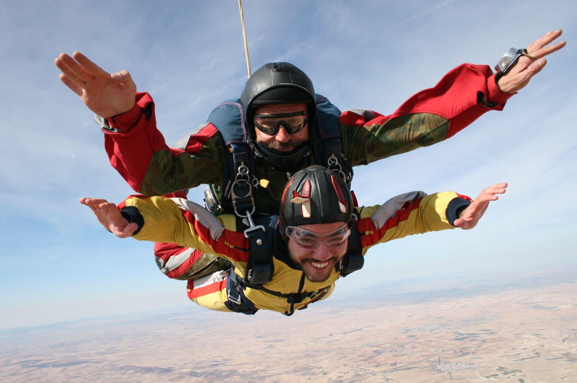 Disfrutando el momento #paracaidismo