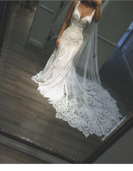 Stunning long wedding dress   Inspiring Ladies is part of Wedding -