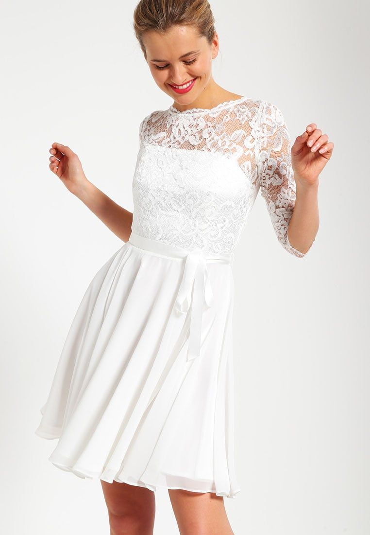 Swing Cocktail Dress Party Dress Creme Zalando Co Uk Dresses Lace Wedding Dress With Sleeves Formal Prom Dresses Short [ jpg ]