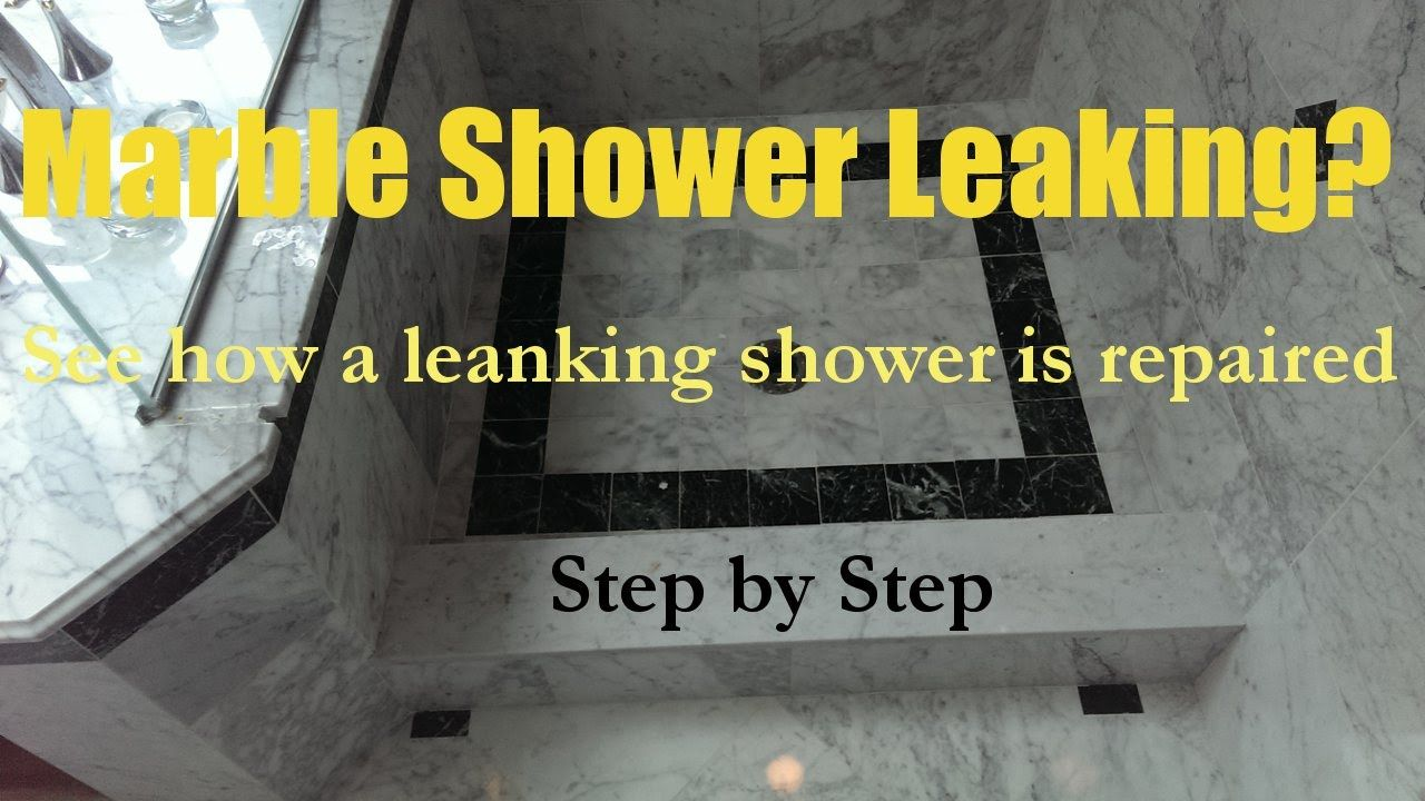 Leaky Shower Pan Repair In Ma Ri 508 880 6001 Beautiful White Marble Showers Started To Leak To Floor Below Making The S With Images Marble Showers Shower Pan Leak Repair