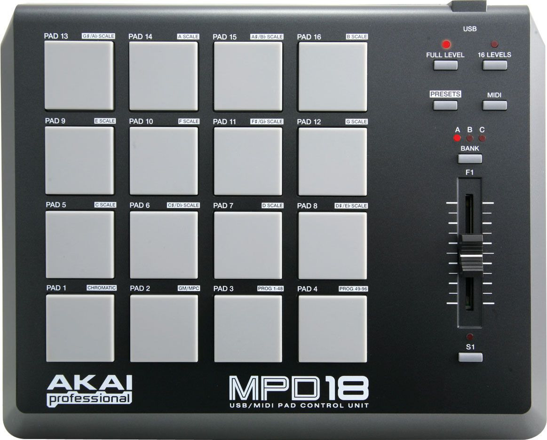 akai mpd18 midi controller dj gear pinterest dj equipment midi keyboard and music. Black Bedroom Furniture Sets. Home Design Ideas
