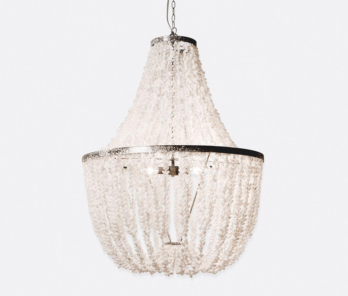 White shell chandy made goods gorgeous coastal style lighting white shell chandy made goods gorgeous coastal style lighting 3 aloadofball Images
