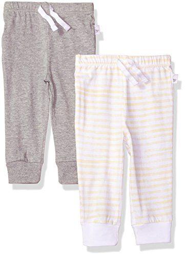 a67038d08 Burt's Bees Baby 2 Pack Organic Jogger Pants, Heather Gre... https: