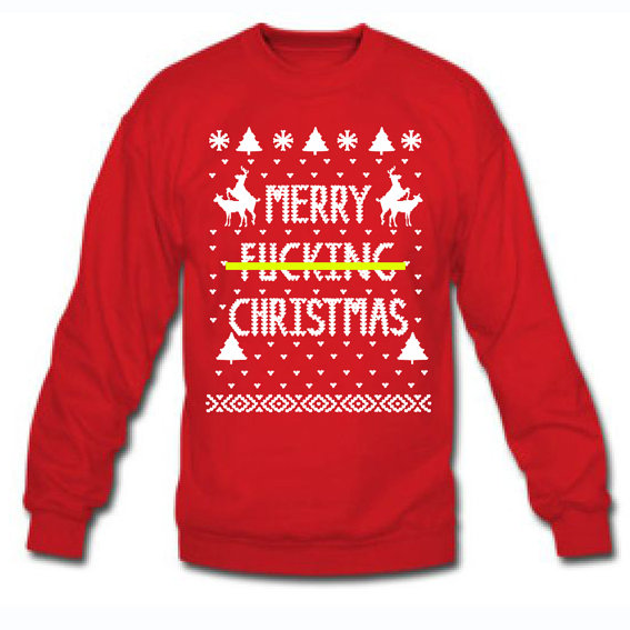 Merry F&%KING CHRISTMAS ya you filthy animal ugly xmas sweater south park  home alone