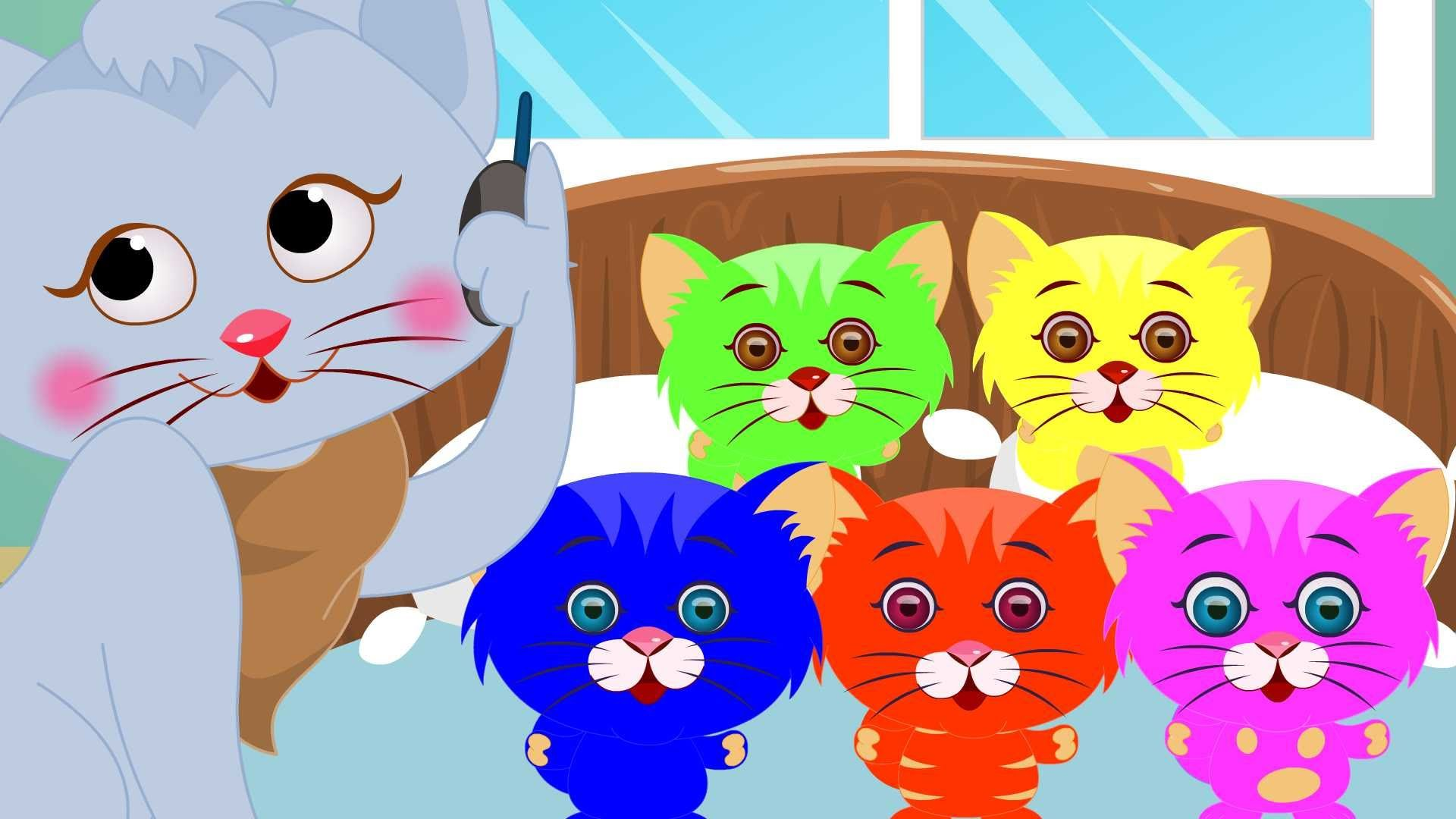 Five Little Kittens Five Little Kids Songs With Lyrics For