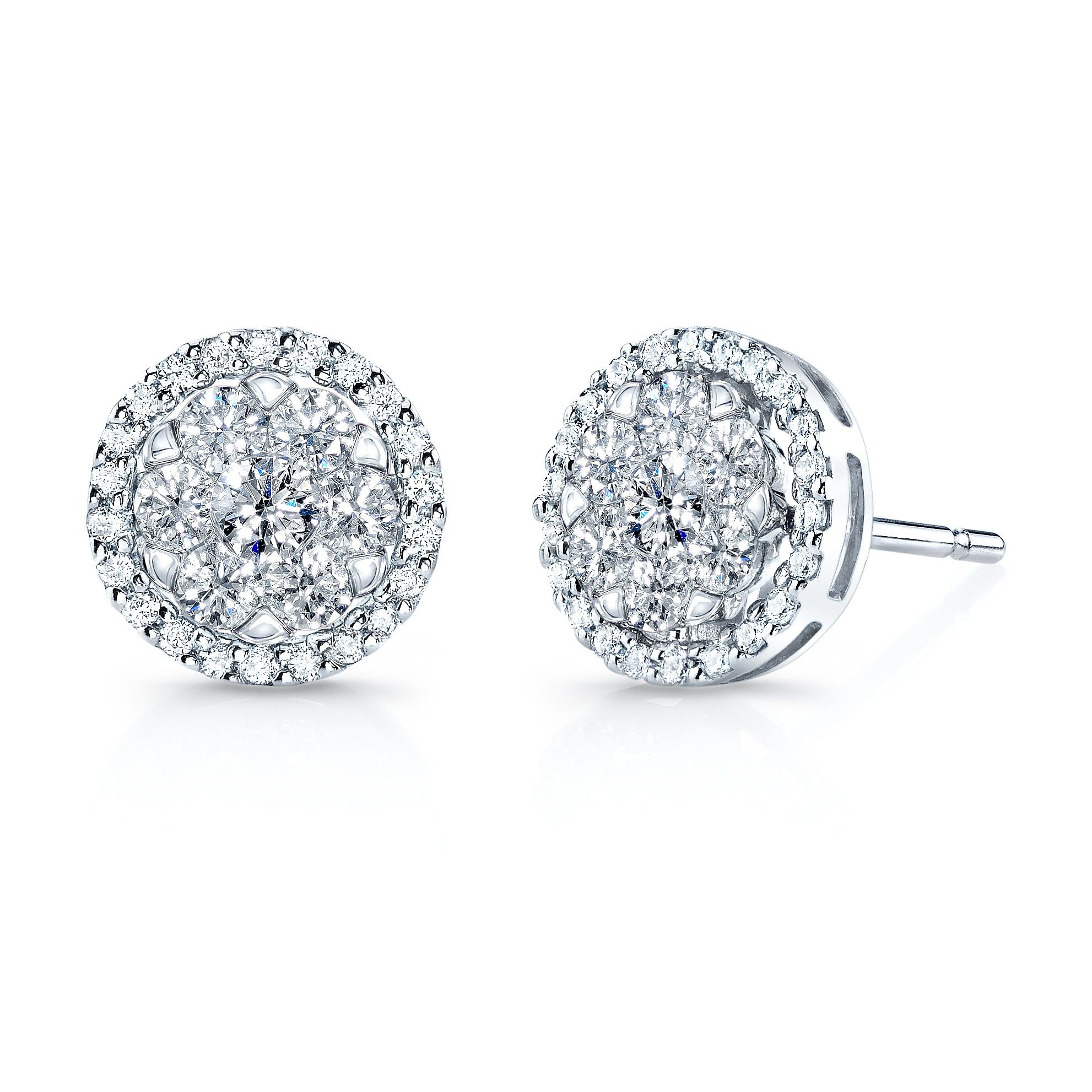 Affordable Diamond Studs Chamahez Earrings 0 30 Total Weight Conflict Free Round Brilliant Cut Diamonds Color Near