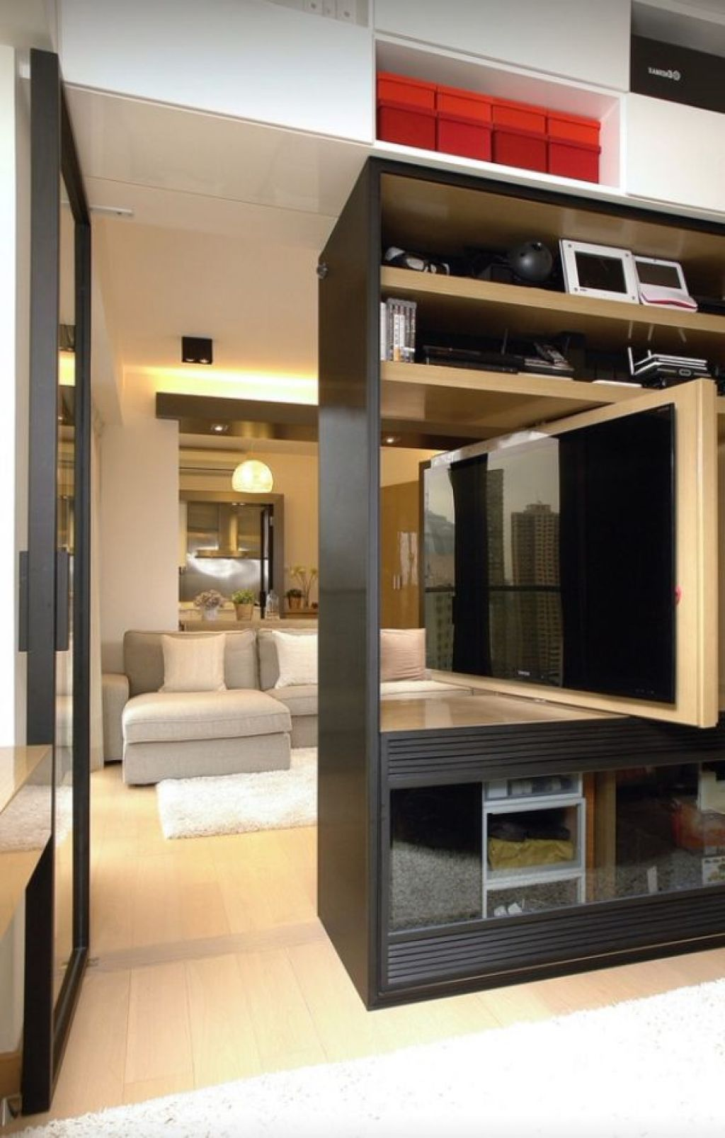 Living Room , Get Multifunctional and Saving Space Look with ...
