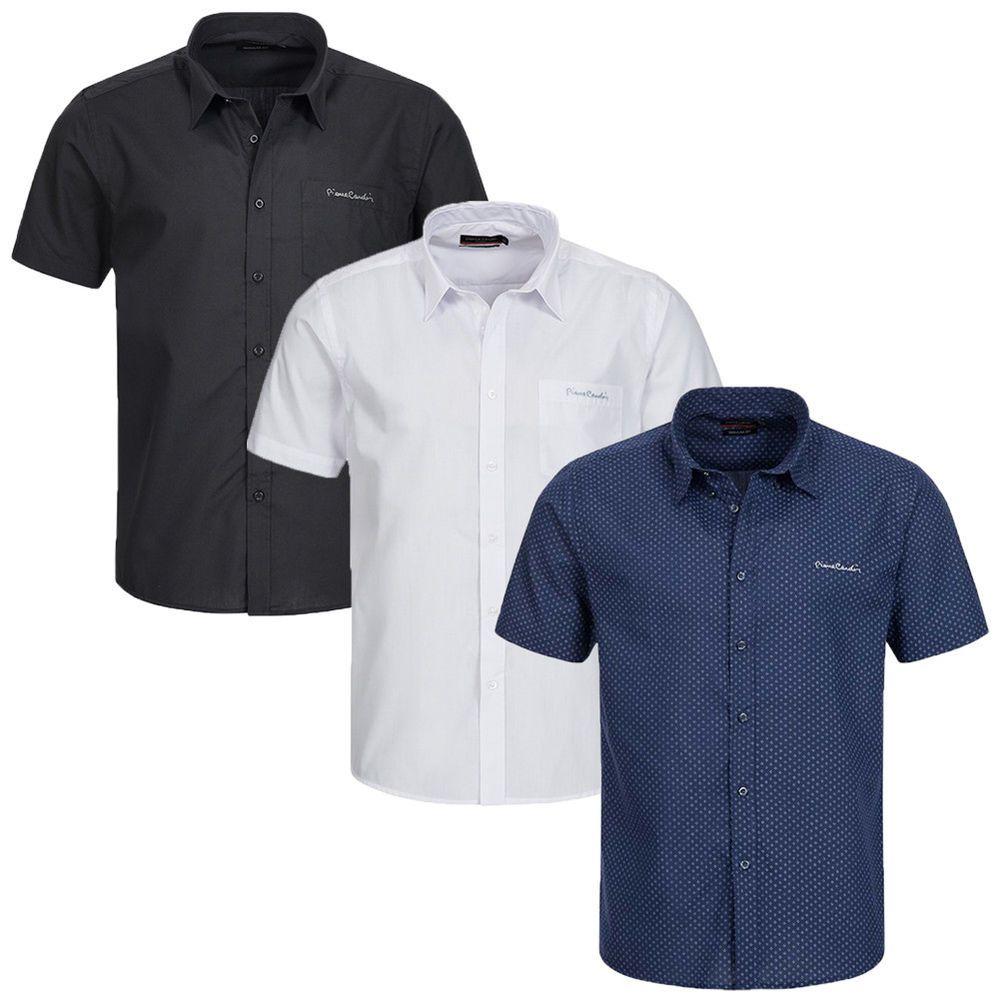 new style 4f812 dda68 Pierre Cardin Herren Kurzarm Hemd Freizeithemd Mens Shirt ...