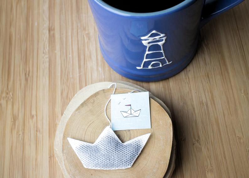 Photo of Origami Boat tea bags  10 pc.  Origami crane | Etsy