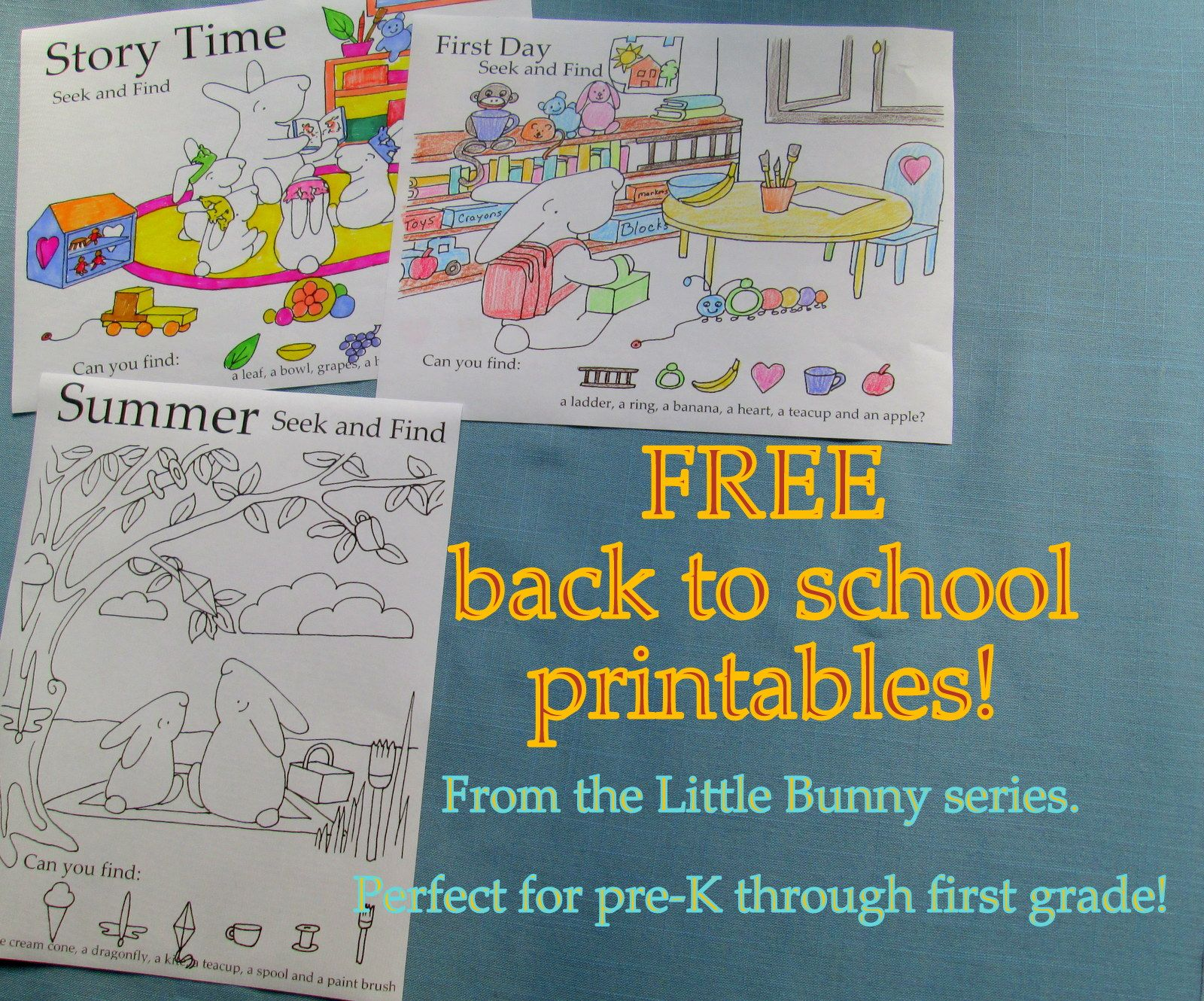 Tons Of Free Printables At The Little Bunny Series Click