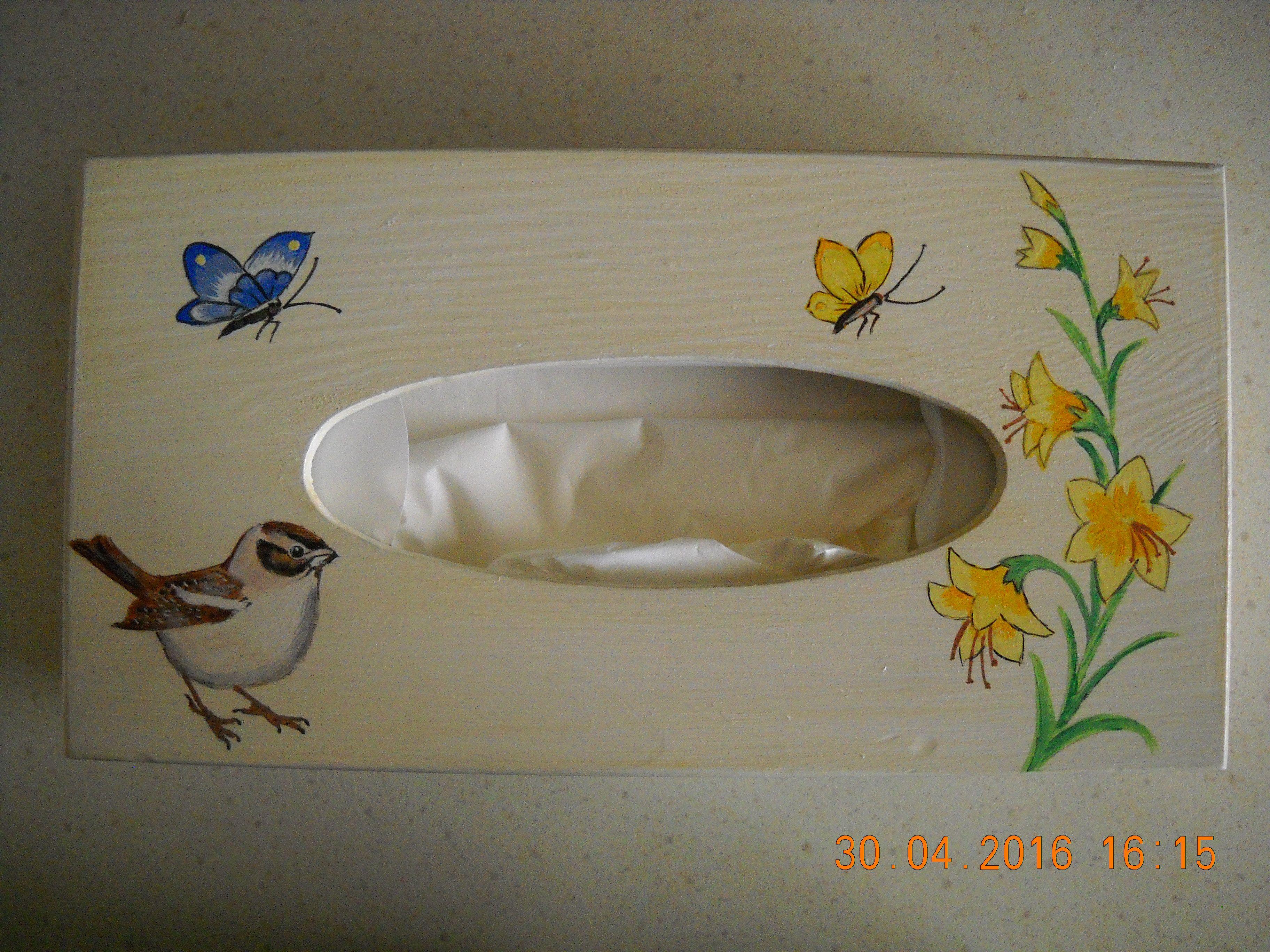 Peinture acrylique sur bois r alisation eliane eliane for Peinture acrylique sur bois brut