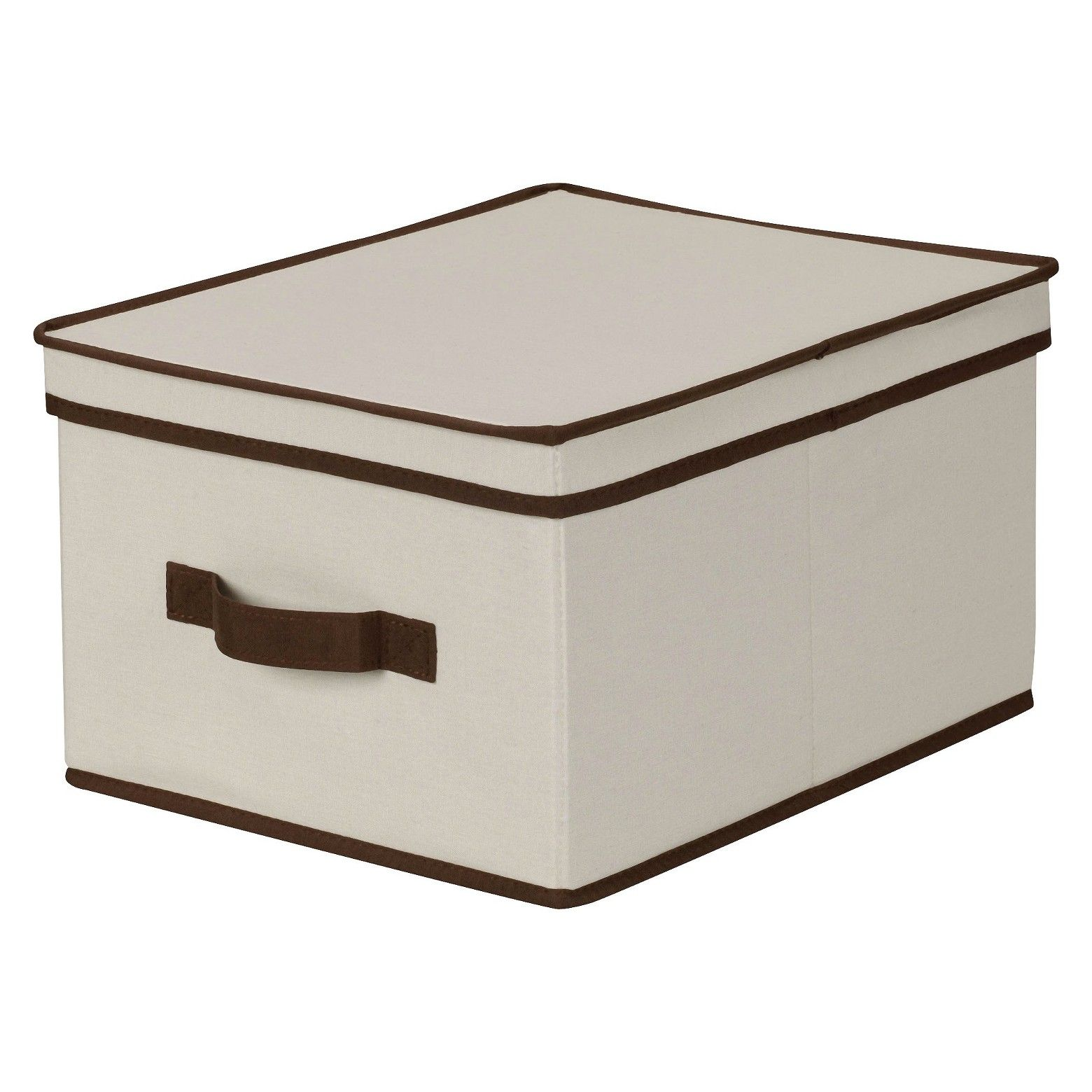 Decorative Lidded Storage Boxes Household Essentials Large Canvas Decorative Storage Box  Natural
