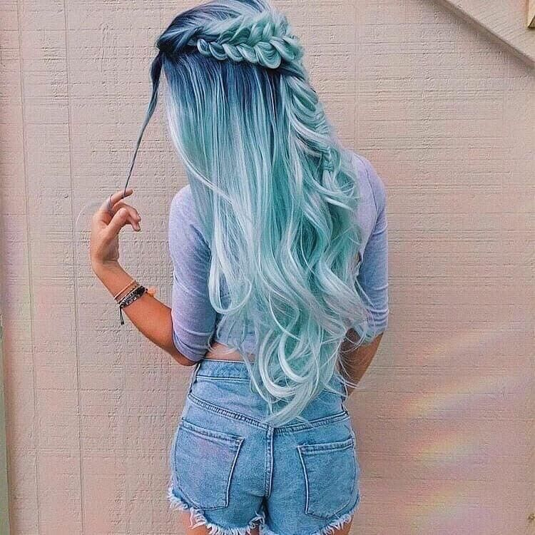 50 Magical Ways To Style Mermaid Hair For Every Hair Type Hair Styles Long Hair Styles Hair Color Blue