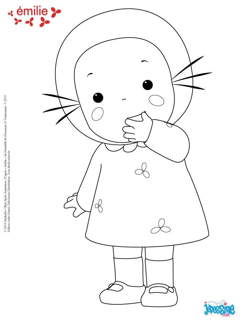 Coloriage emilie colorier coloriage pinterest coloriage coloriage dessin anim et - Dessin anime a colorier ...