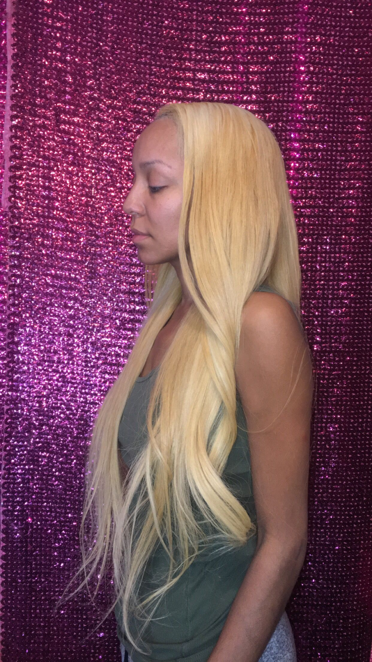 Indian Natural wavy bleached from natural black... Hair