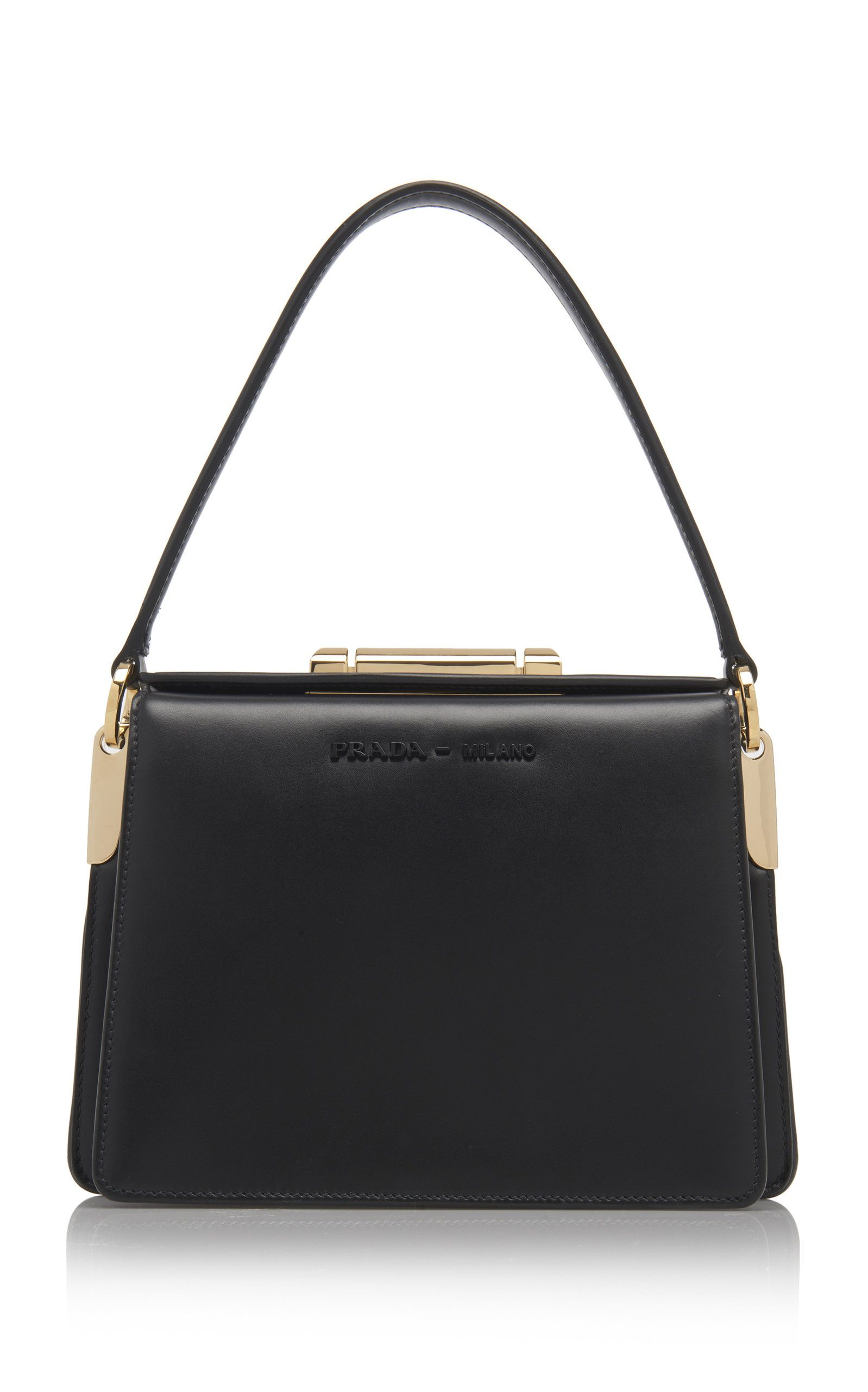 92813980180f Prada Leather Shoulder Bag in 2019 | fashion2 | Bags, Leather ...