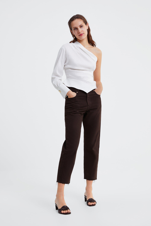 a520afe3b0b Asymmetric pleated top in 2019 | Wardrobe | Tops, Fashion, Capri pants