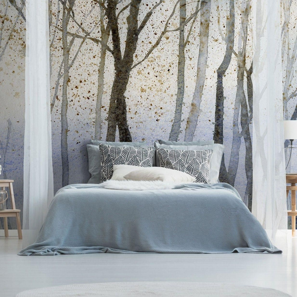 16 Tapeten Ideen Für Schlafzimmer Feature Wall Bedroom Wallpaper House Design Wall Decor Bedroom