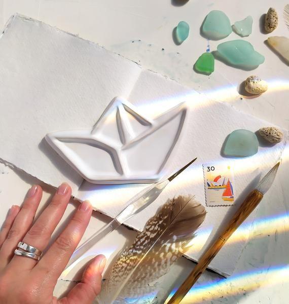 Ceramic Mixing Palette Boat Ceramic Palette Ceramic Mixing