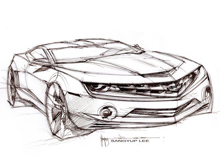 Myndaniurstaa Fyrir Chevrolet Camaro Drawing Bilar Pinterest