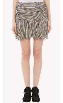 Isabel Marant Étoile Cary Ruched Stripe Mini Skirt