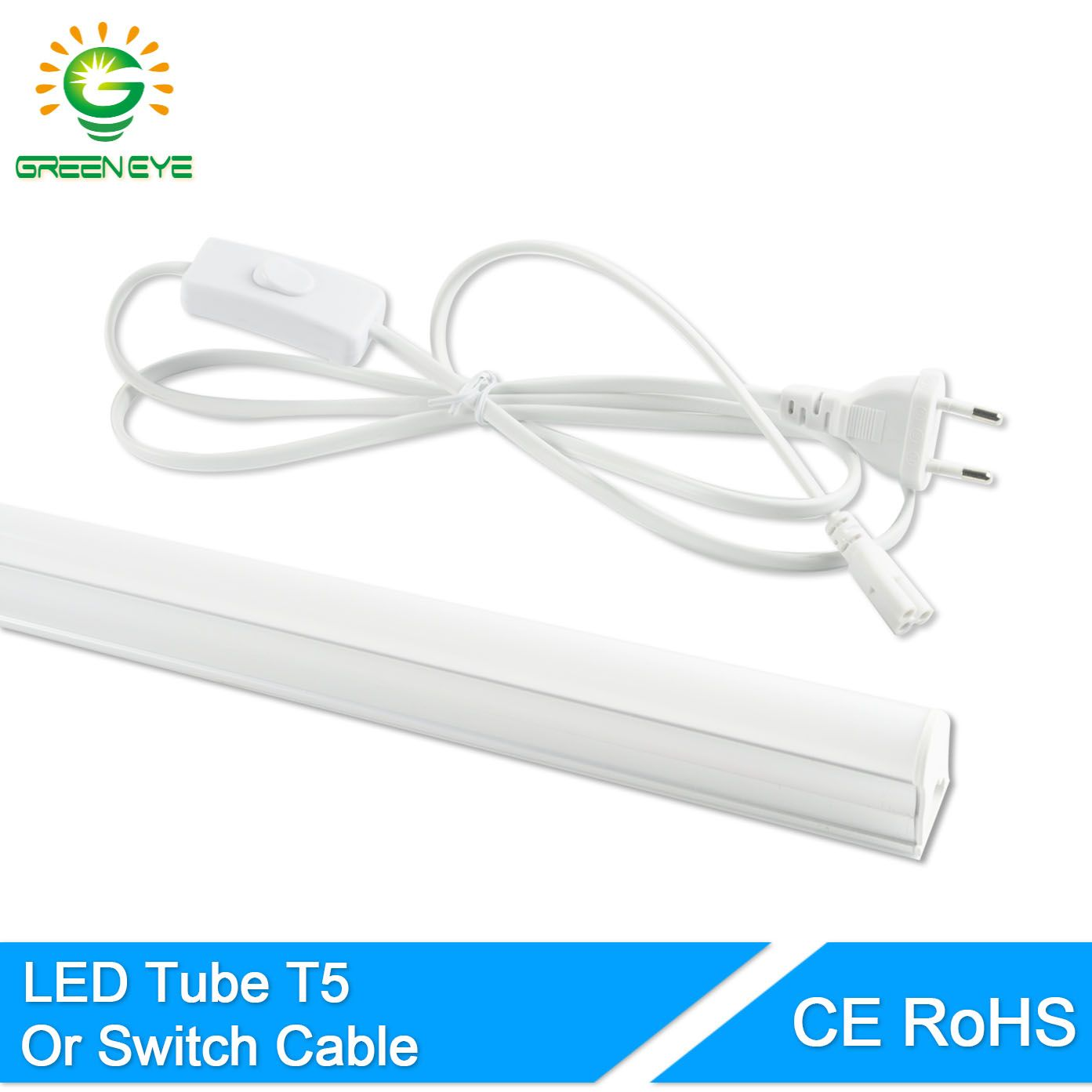 Greeneye Ue Commutateur C Ble Fil Int Gr Led Tube T5 Lumi Re 220 V