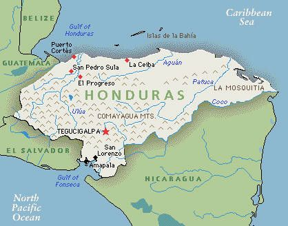 My Assigned Country Honduras Is Located In The Northcentral - Map of honduras