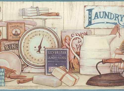 Laundry Room Borders Laundry Border With Images Vintage