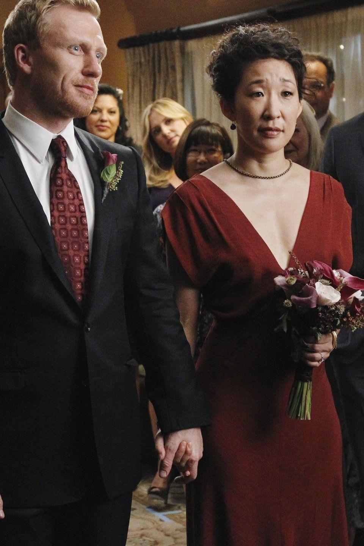 Christina Yang, Grey's Anatomy -- 32 TV wedding dresses, ranked from worst  to best | Greys anatomy season, Tv weddings, Greys anatomy owen