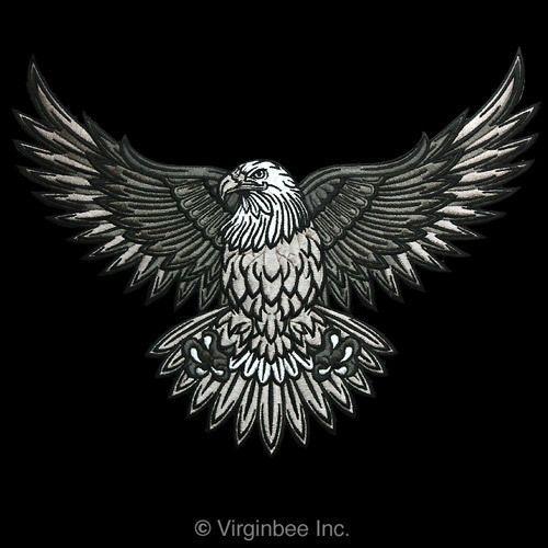 huge american bald eagle tattoo usa symbol biker jacket